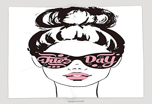 Supersoft Fleece Throw Blanket Women Face With Sunglasses Tuesday Fashion Girls Illustration Set - Stupid Sunglasses