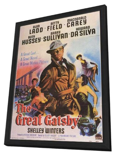 The Great Gatsby Framed Movie Poster