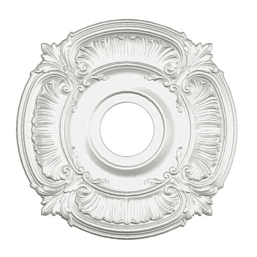 Focal Point Panel - Focal Point Acanthus Medallion in Primed White (18-Inch) (81018)