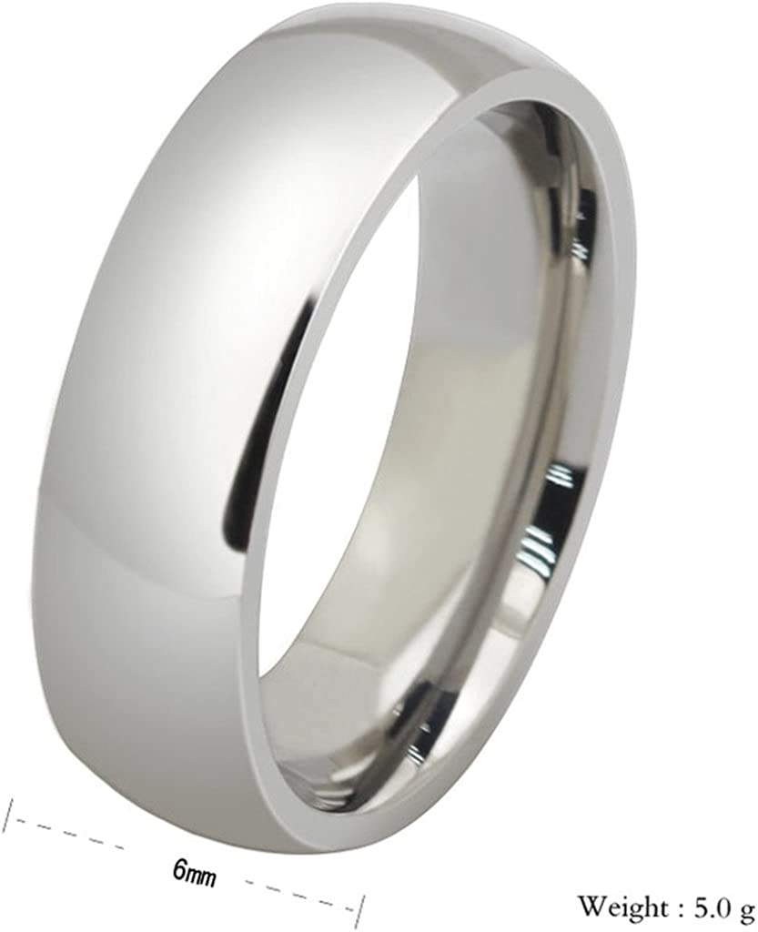 Stainless Steel Rings for Men Women Classic Polish Finish Wedding Bands by Aienid