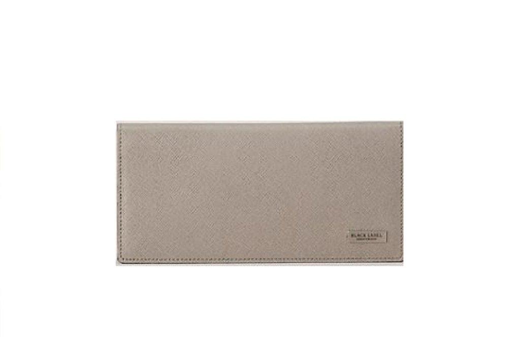 ブラックレーベル クレストブリッチ メンズ 財布 長財布 プリムレザーロング バーバリー ライセンス商品 (ブラック) B07CGQYH7R カラーエンボス グレー カラーエンボス グレー