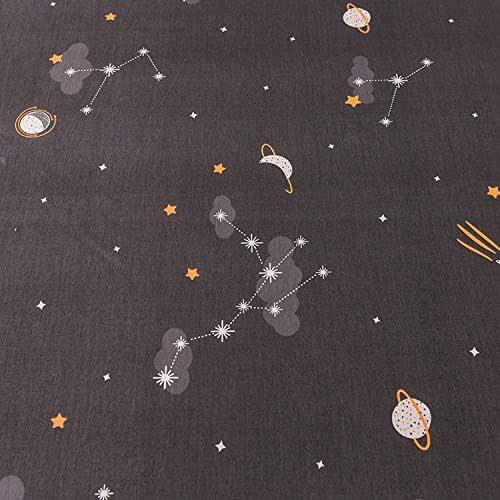 Big Incisors Ensemble de Drap de lit ajusté| 1pcs Ensemble de Matelas de lit d'impression en Coton avec Quatre Coins et Feuilles de Bande élastique-xingkongmenghuang-90X200X25cm