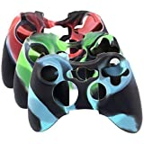 Surdoid Super Soft Silicone Cover Case Skin for Xbox 360 Controller Camo (3 Colors Package)