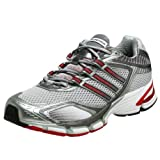 adidas Men's Supernova Glide Running Shoe,Lt Grey/Haze/Red,12.5 M