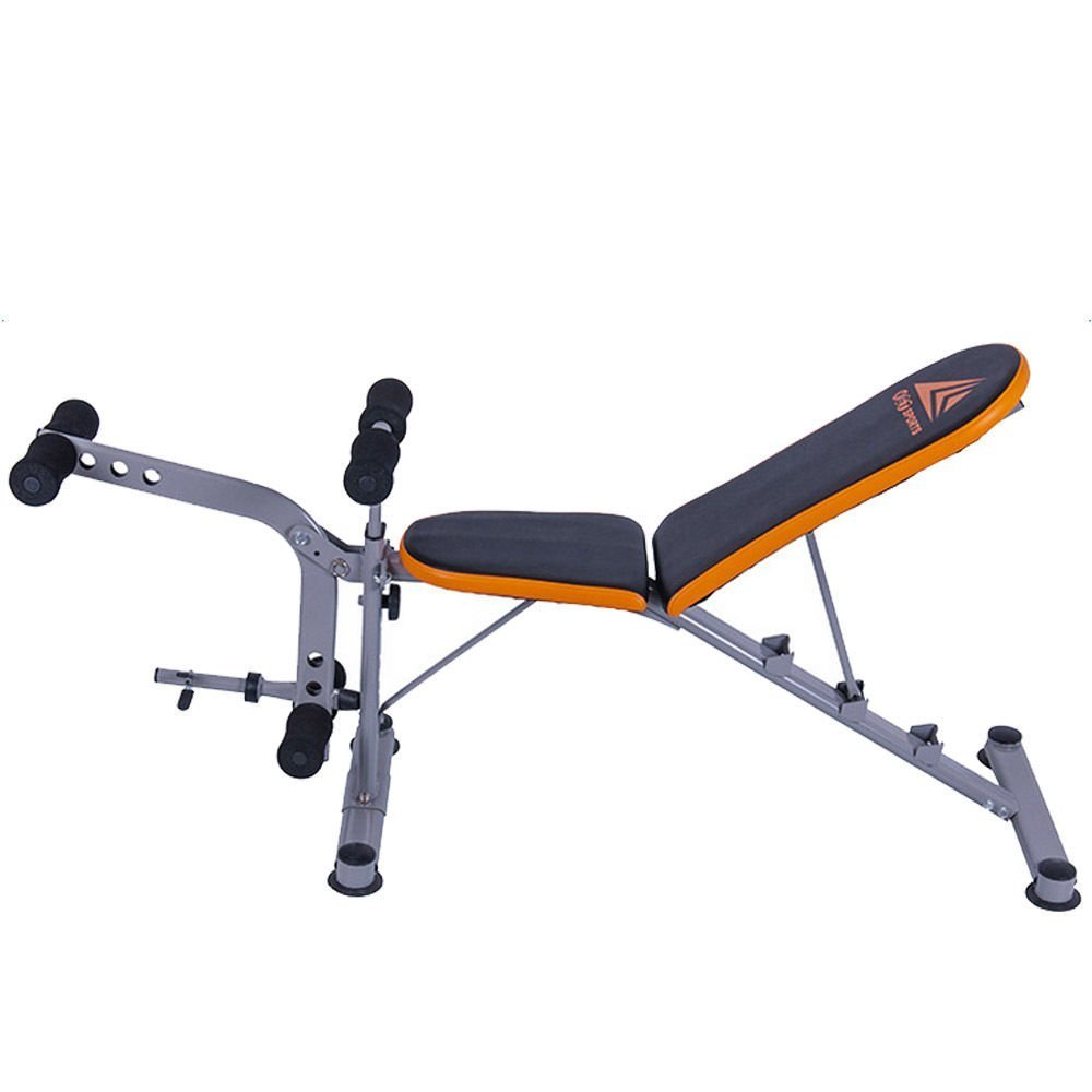 Wowcool Durable Adjustable Weight Bench Abs Workout Gym Press Fitness Trainer Dumbbells Lifting Incline Multi-Workout Abdominal/Hyper Back Extension Bench