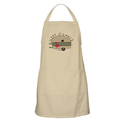 632da1a127 Amazon.com  CafePress Happy Camper Kitchen Apron with Pockets ...