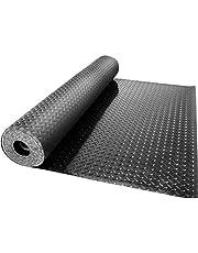 VEVOR Garage Floor Mats 2 Rolls 14.7 x 3.6 Ft Garage Mat 2.5mm Thickness Black Garage Flooring PVC Garage Mats for Under Car