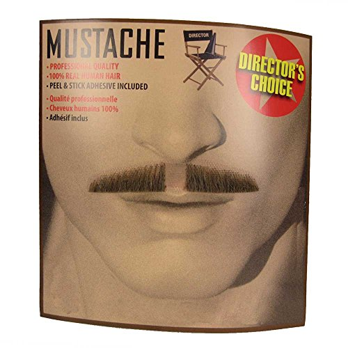 Largemouth Men's Thin Moustache Self Adhesive (Brown)]()