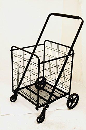 Uniware Uniware 360 Degree Wheel Folding Super Jumbo Shopping Cart 51.25 X 8 X 27 Inch (Black) [1203] price tips cheap