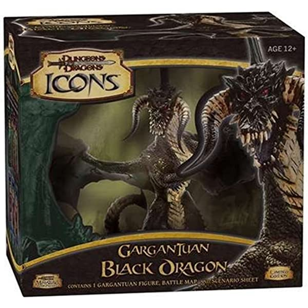 Dungeons /& Dragons GARGANTUAN BLACK DRAGON D/&D icons Limited Edition Wizards