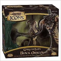 D&D Icons: Gargantuan Black Dragon: Miniatures Team: 0653569150152