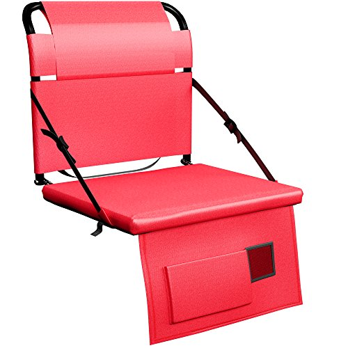 Stadium Seat Chair for Bleachers or Benches - Enjoy Extra Padded Cushion Backs - Light Portable and Easy to Carry