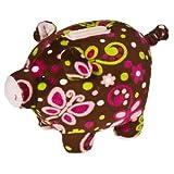 """Mary Meyer Print Pizzazz Piggy Bank Flutter Design 6"""""""