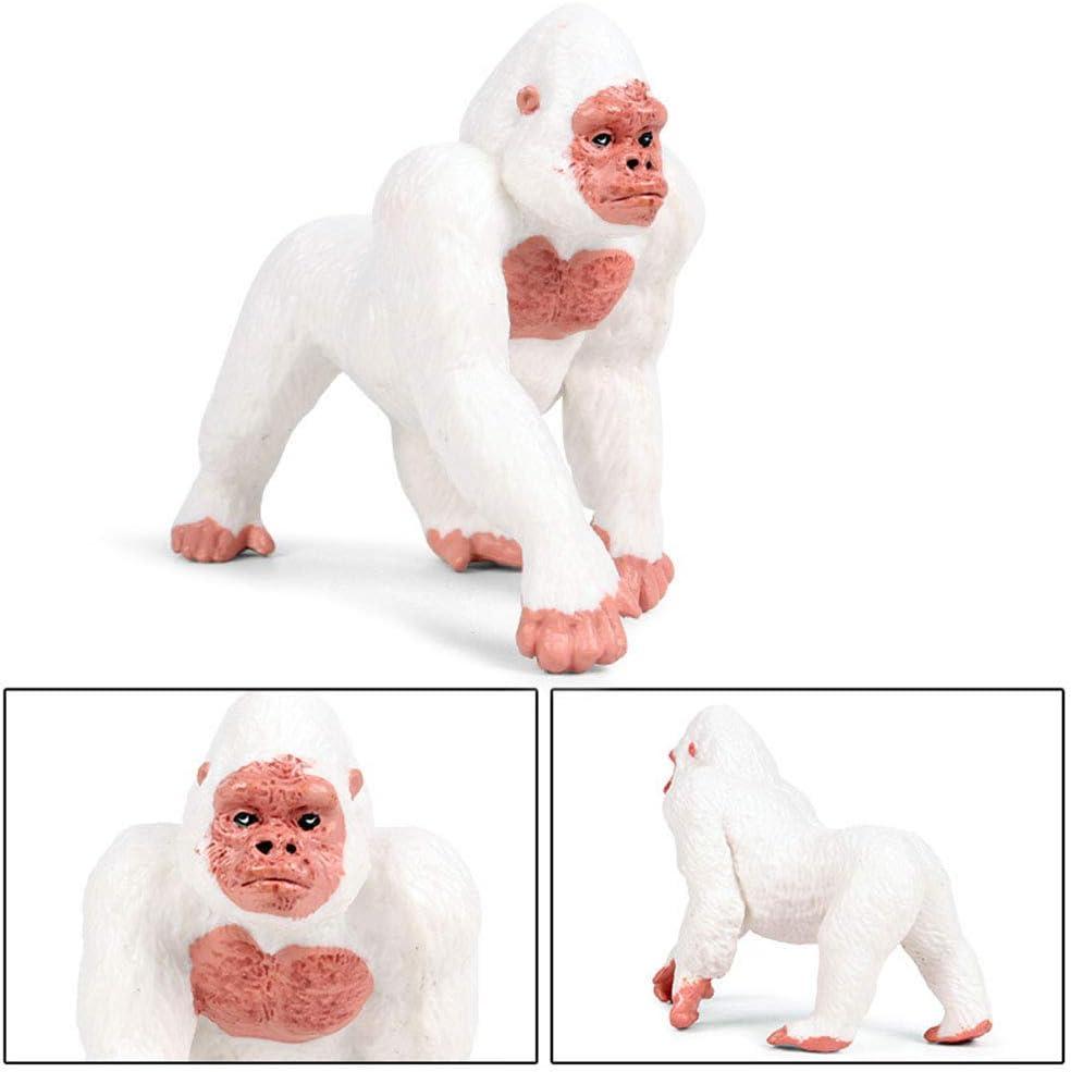 Bianca FLORMOON Gorilla Figurine Realistico Gorilla Giocattolo Figura Animale Giocattoli educativi precoci Progetto di scienze Natale Regalo di Compleanno per Bambini