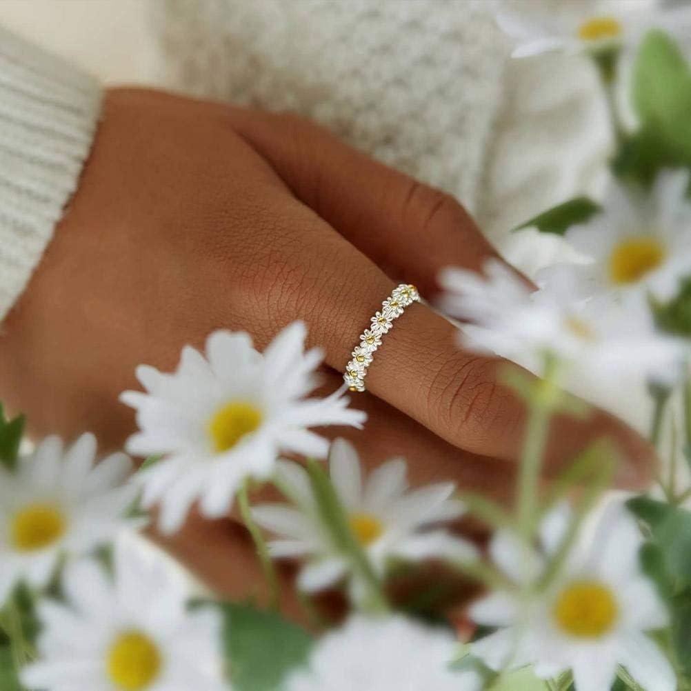 Anello a fascia regolabile con margherite e fiori hawaiani ideale come regalo per le donne CeFoney alla moda e versatile
