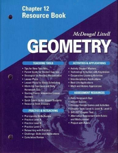 McDougal Littell - Geometry - Chapter 12 Resource Book