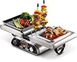 Best Grill Indoors - Gourmia GDG1900 Digital Dual Indoor Grill, Folds Review