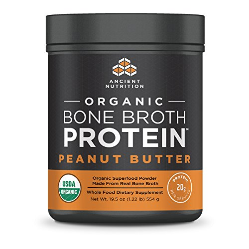 Ancient Nutrition Organic Bone Broth Protein Powder, Peanut Butter Flavor, 17 Servings Size - Organic, Gut-Friendly, Paleo-Friendly (Thrive Lifestyle Mix)