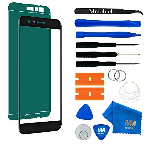 MMOBIEL Front Glass Repair kit Replacement Compatible with LG K20 Plus / K10 (2017) Series (Black) Display Touchscreen