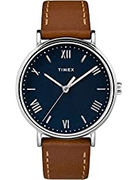 Men's TW2R63900 Southview 41mm Tan/Silver-Tone/Blue Leather Strap Watch