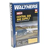 Walthers Cornerstone HO Scale Central Gas & Supply Structure Kit
