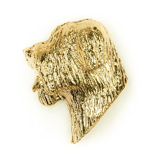 - BRIARD Made in U.K Artistic Style Dog Clutch Lapel Pin Collection 22ct Gold Plated