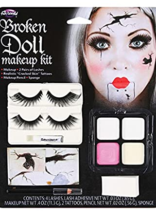 Wicked Costumes Halloween Gothic Broken Doll Make-Up Kit