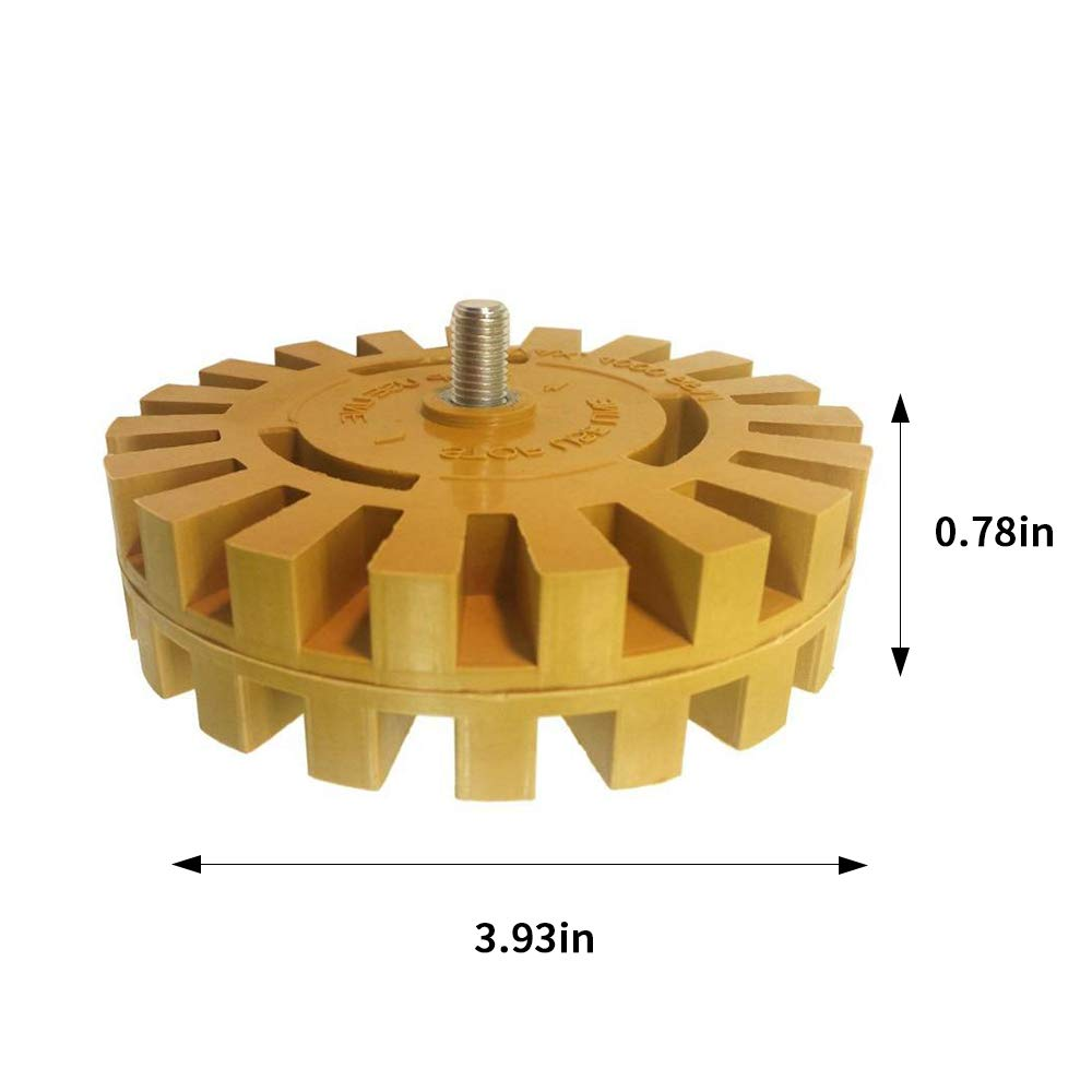 Wood Glass 4 Inches 20 mm Pneumatic Glue Remover Rubber Paint Wheel Glue Remover Rubber Wheel Suitable for Metal