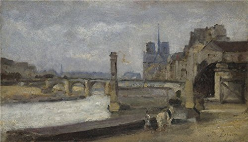 Perfect Effect Canvas ,the Cheap But High Quality Art Decorative Art Decorative Canvas Prints Of Oil Painting 'Stanislas Victor Edmond Lepine The Pont De La Tournelle Paris ', 8 X 14 Inch / 20 X 35 Cm Is Best For Wall Art Gallery Art And Home Decoration A by RichardGallery