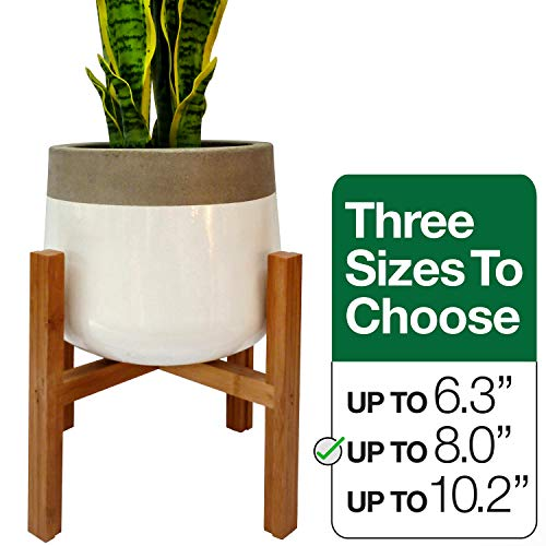Plant Stand Pot Holders | Indoor Flower Pot Decor | Rustic Home Pot Holder | Medium Size Wood Flower Pots | (Plant and Pot NOT Included) Home Rustic Decor | Up to 8 Inch – 20.5cm Pot Planter