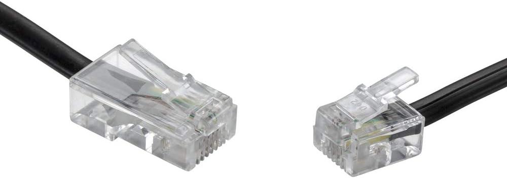 Ecabo 15m Modularkabel Telefonkabel Rj11 Auf Rj45 Elektronik