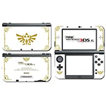 Legend of Zelda Majora's Mask Special Edition White Gold Video Game Vinyl Decal Skin Sticker Cover for the New Nintendo 3DS XL LL 2015 System Console Model: (Electronics Consumer Store)