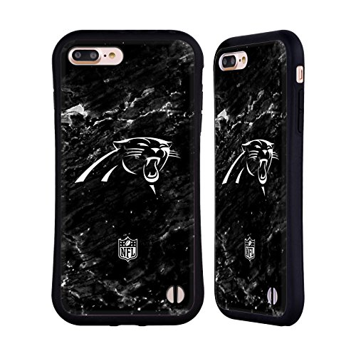 Official NFL Marble 2017/18 Carolina Panthers Hybrid Case for iPhone 7 Plus/iPhone 8 Plus
