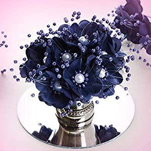 Inna-Wholesale Art Crafts New 72 pcs Navy Blue Faux Pearl Decorating Flowers Party Favors Supplies Decorations - Perfect for Any Wedding, Special Occasion or Home Office D?cor 74