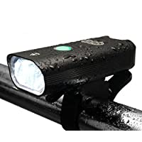 Uncharted Roads Gear URG Pro Ultra Bright USB Rechargeable Bike Light Set - Rechargeable Taillight Included