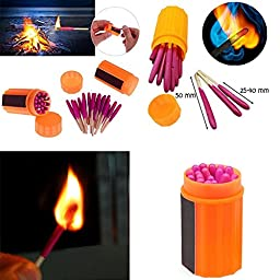 Ezyoutdoor Portable Extra-large Head Windproof Waterproof Matches for Outdoor Survival Emergency Survival Equipment Hiking Camping (20 Pack)