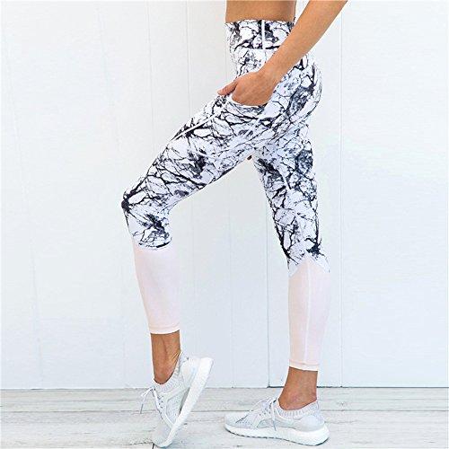 Wenyujh Femmes Leggings Pantalon de Sport Imprimé Motif Elégant Fashion  Pantalon Collant Streche Taille Haute Fitness Yoga Gym  Amazon.fr  Vêtements  et ... cab956deed8