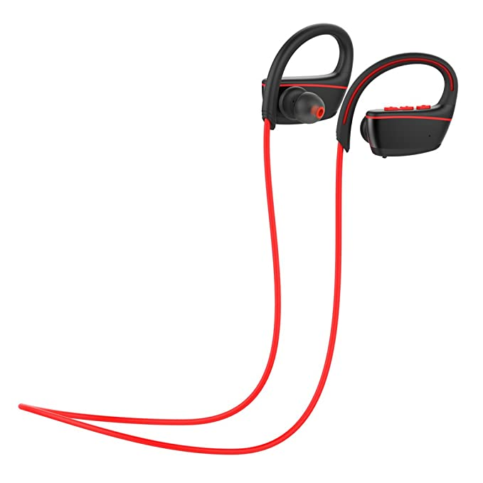 pretty nice be302 dd15f Gerleek Wireless Headphones IPX7 Professional Waterproof Bluetooth Headset  Earbuds with HD Clear MIC for Running Swimming Sport Earphone with Rich ...