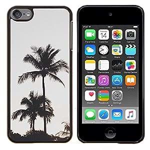 Los árboles de la tarde Puesta de sol- Metal de aluminio y de plástico duro Caja del teléfono - Negro - iPod Touch 6