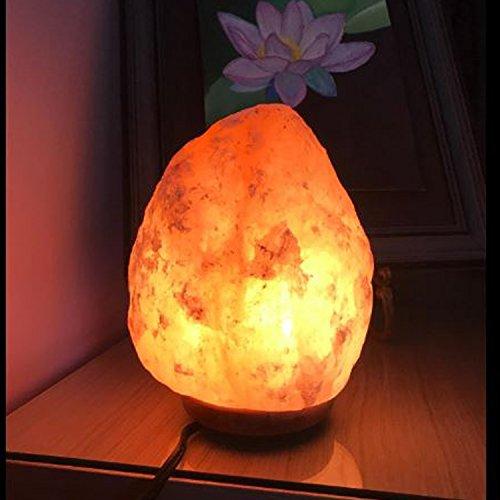 Himalayan Glow WBM 1002 large Salt lamp. ETL Certified himalayan pink salt lamp with Neem Wood Base/salt lamp light bulbs and Dimmer Control, Crystal, 9'' x 5'' x 5'', 8-11 LBS by Himalayan Glow (Image #7)