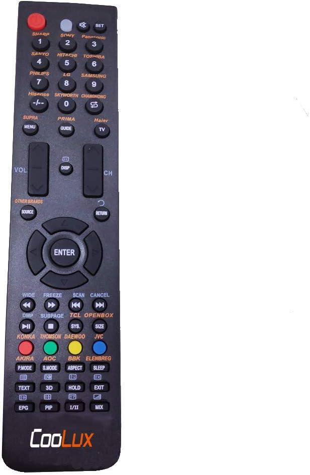 Coolux - Mando a Distancia Universal para televisores LED/LCD HD 3D con Instrucciones de Funcionamiento en Varios Idiomas: Amazon.es: Electrónica