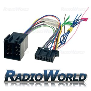 kenwood 22 pin iso wiring harness connector adaptor amazon co uk kenwood 22 pin iso wiring harness connector adaptor power