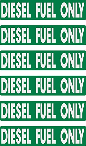 - diesel fuel only, 6 decals as shown, equipment, hard hat, lunch box, tool box, Stickers