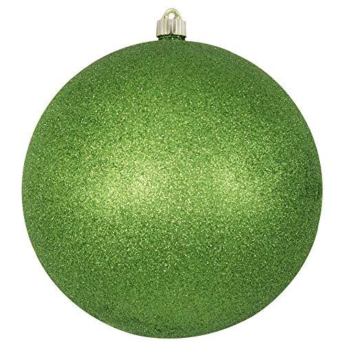 Christmas by Krebs KBX40507 Shatterproof Christmas Ball Ornament, 10-Inch, Lime Glitter