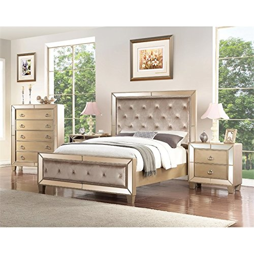 Abbyson Francesca 4 Piece California King Panel Bedroom for sale  Delivered anywhere in USA