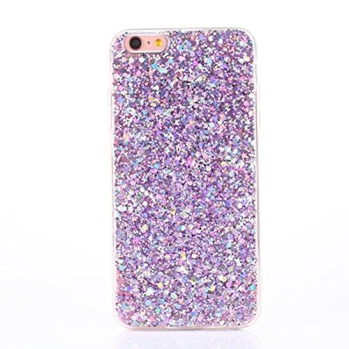 Price comparison product image Glitter Ultra-Thin Glitter TPU Case Aobiny Cover For iphone 6 Plus 5.5 Inch (purple)