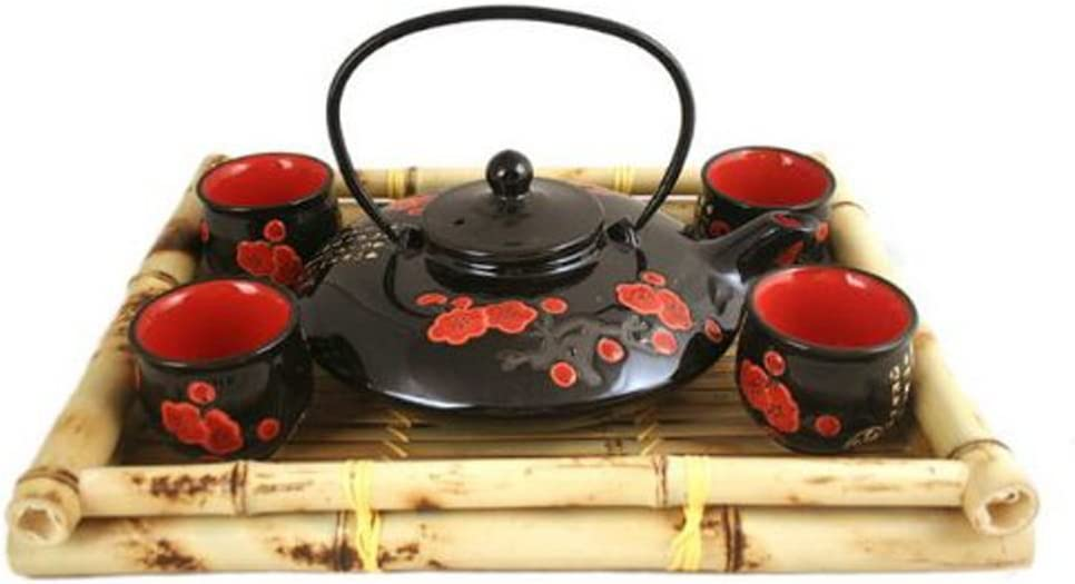 Asian Home Contemporary Art Decor Porcelain tea set 5 pcs