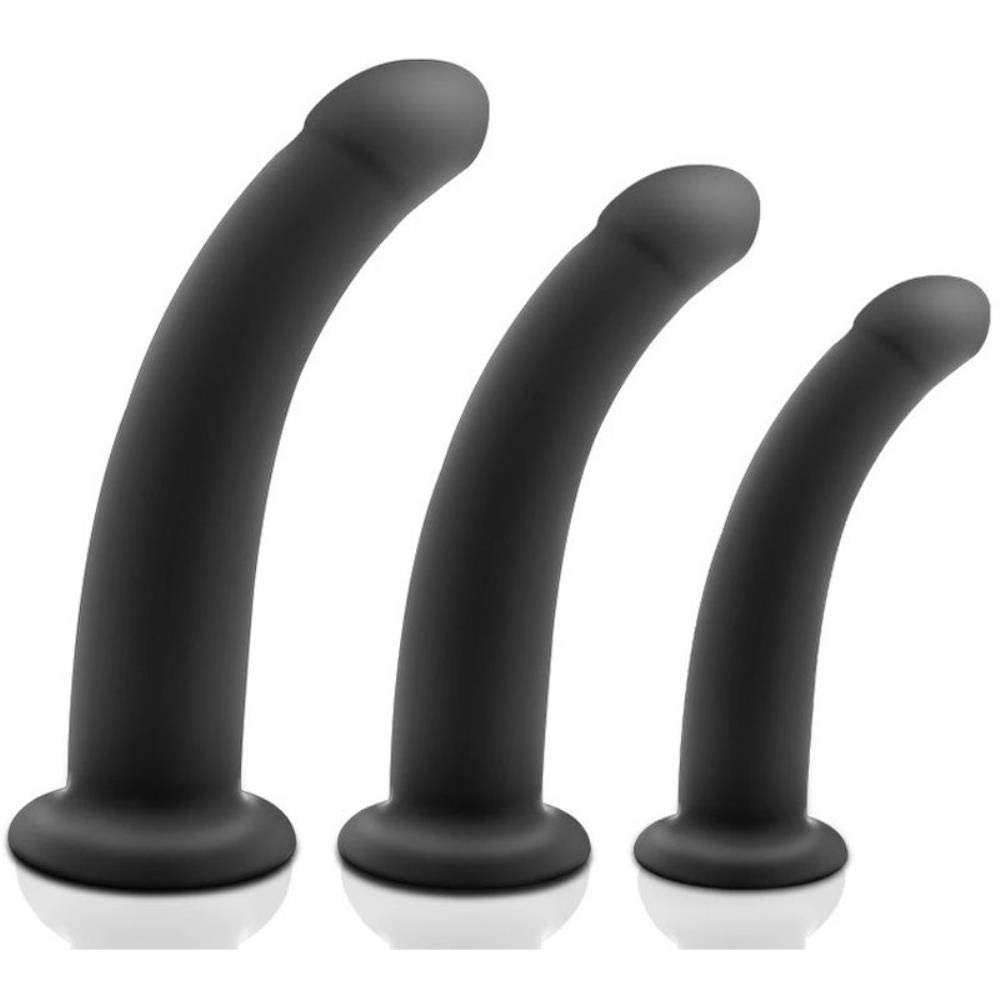Larenca Silicone Anal Dildo Suction Cup Butt Plug Adult Erotic Toys for Woman Men Anus Dilator prostata Massage buttplug Sex Products,3pcs Set