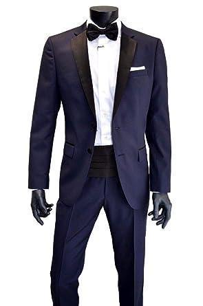 2d8902a2644 BOSS Hugo Smoking hombre Slim Fit con detalles de Seda Color Negro TG. 54   Amazon.es  Ropa y accesorios