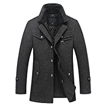 OCHENTA Men's Wool Pea Coat Winter Car Coat